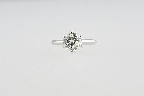 2.08 ct Round Brilliant Solitaire Ring set in 18ct White Gold