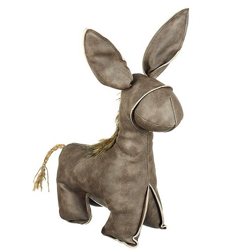 Mock leather donkey - doorstop