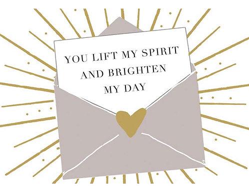Postcard - You lift my spirit