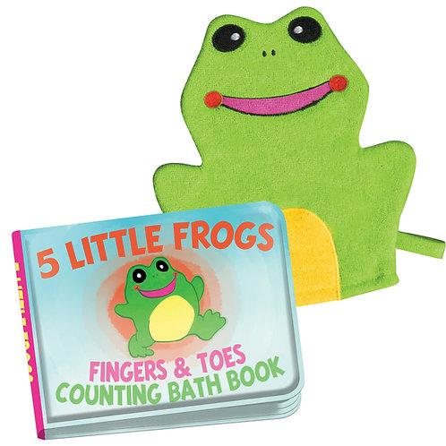 Frog bath book & mitt
