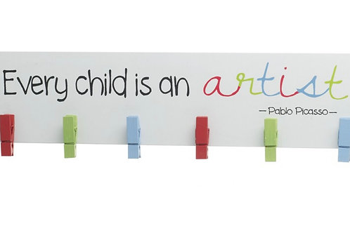 Every child is an artist peg sign