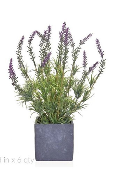 36cm Artificial Lavender in Slate Pot
