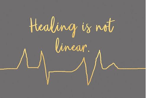Sentiment card - Healing is not linear