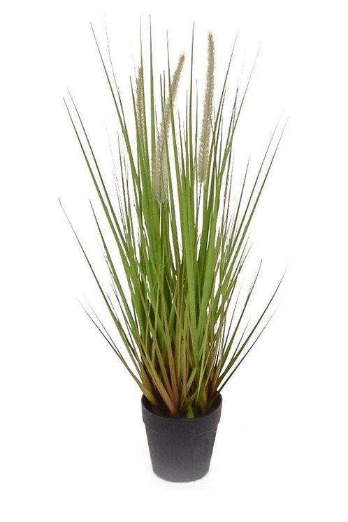 58cm Artificial Dogtail Grass in metal pot