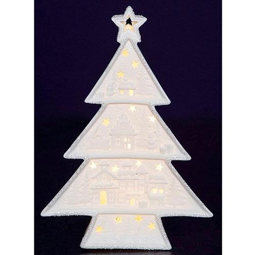 Christmas glow porcelain 3 tier Xmas Tree