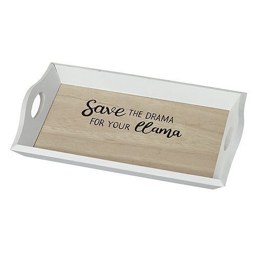Save the drama for your LLAMA - mini tray - 31x18x14 cm