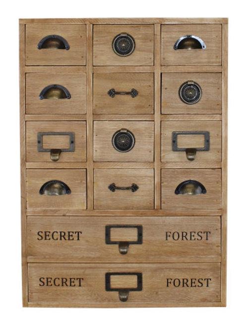 14 drawer storage unit - trinket drawers