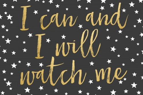 Sentiment postcard - I can I will