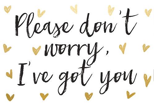 Sentiment postcard - Please don't worry