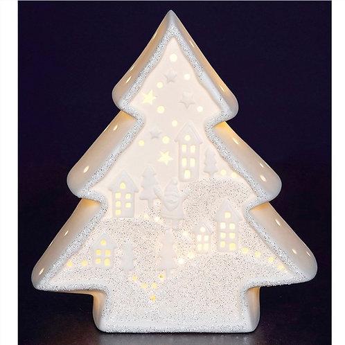 Christmas glow/ light up porcelain Tree