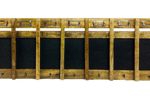 Chalkboard with hooks 68x22.5x4 cm