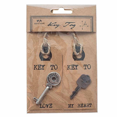 Set of 2 keys on tags