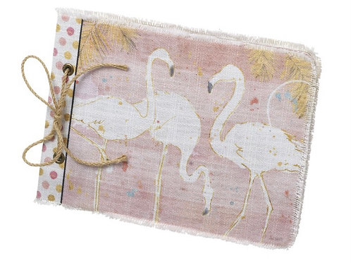 Flamingo fabric book