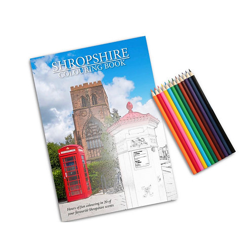 Shropshire Colouring Book & pencils