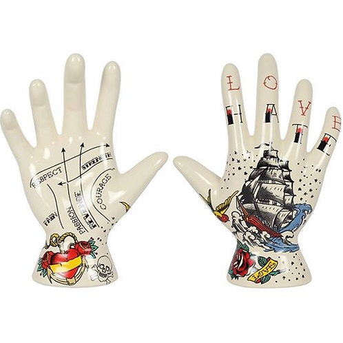 19cms Palmistry Tattoo Hand Ornament