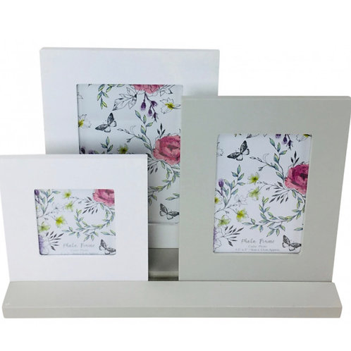 3 picture frames on a tray