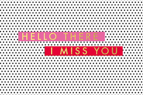 Sentiment postcard - Hello there