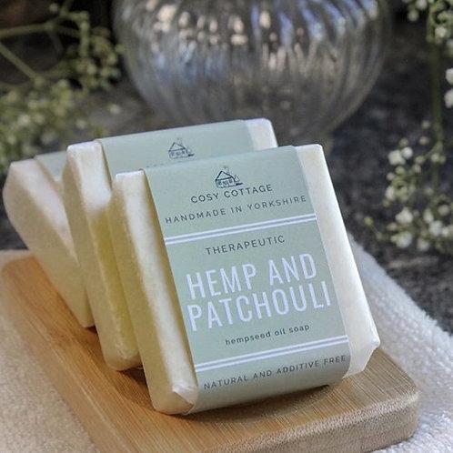 Therapeutic Hemp & Patchouli Soap 55g bar
