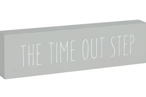 Time out step - word block 18x5cm