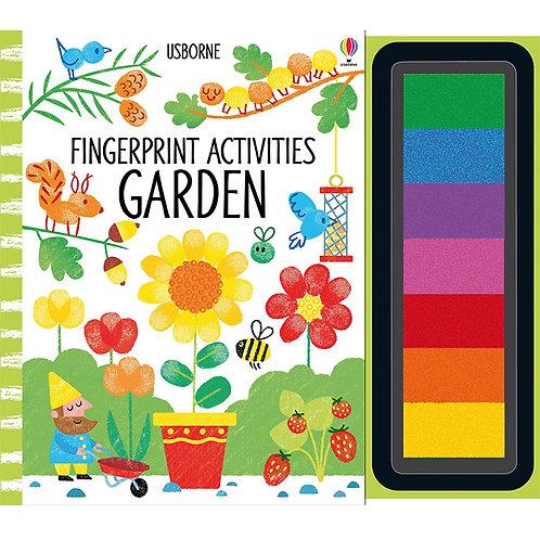 Garden Fingerprint Activities book
