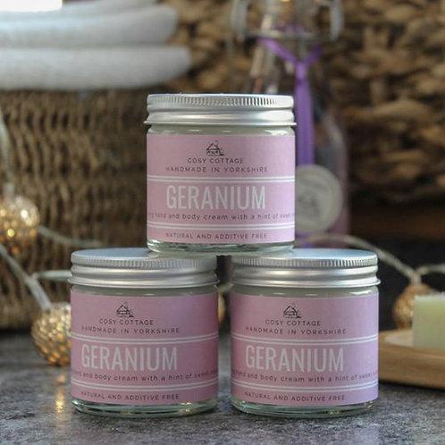 Uplifting Geranium Hand & Body Cream - 30ml jar - VEGAN