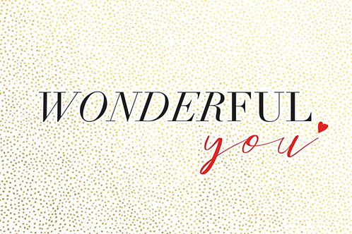 Sentiment card - Wonderful you