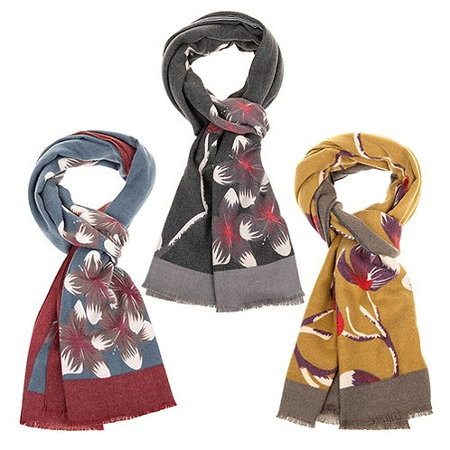 Floral Cashmere feel Scarf