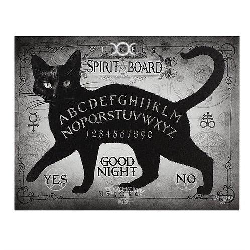 Black Cat canvas Spirit Board Plaque