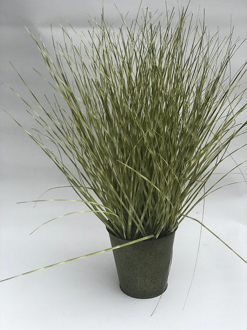 50cm Artifical Zebra Grass in metal pot