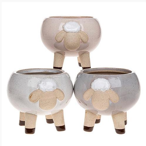 Glazed Pot Sheep - ceramic 11x13 cm
