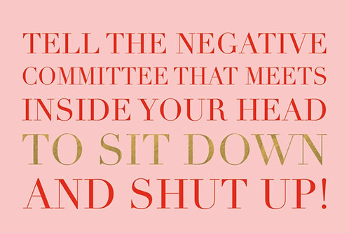 Sentiment card - Tell the negative committee