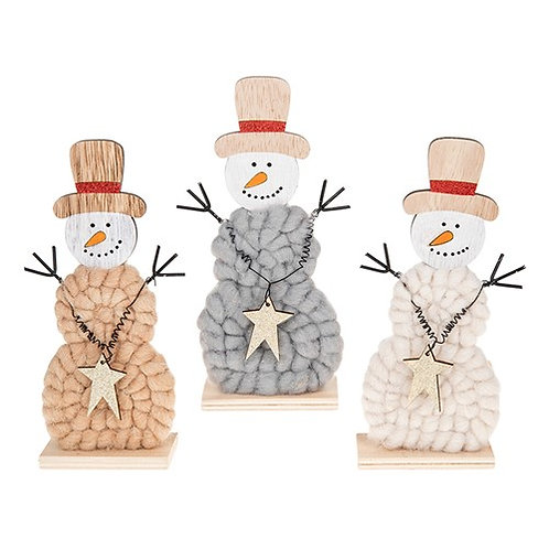 Woolly Xmas Snowman 20x9 cm