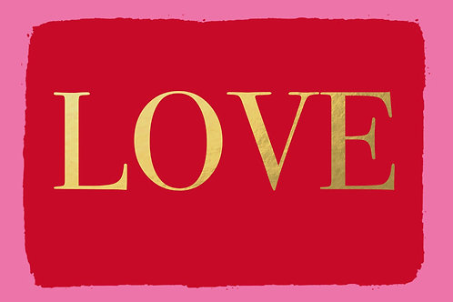 Sentiment postcard - Love