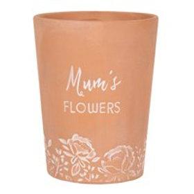 Terracotta Plant Pot - Mum's Flowers