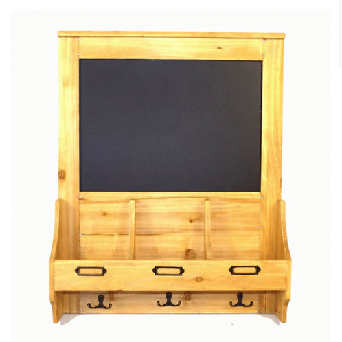 Chalkboard with hooks & post space 47x10x59 cm