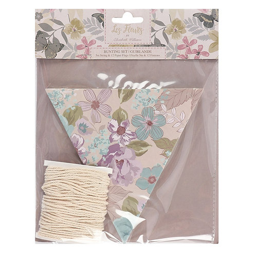 Floral make your own paper bunting kit - m