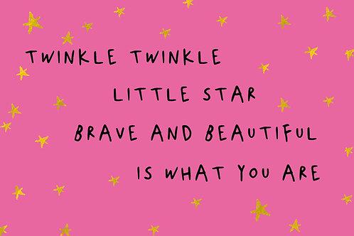 Sentiment postcard - Twinkle twinkle