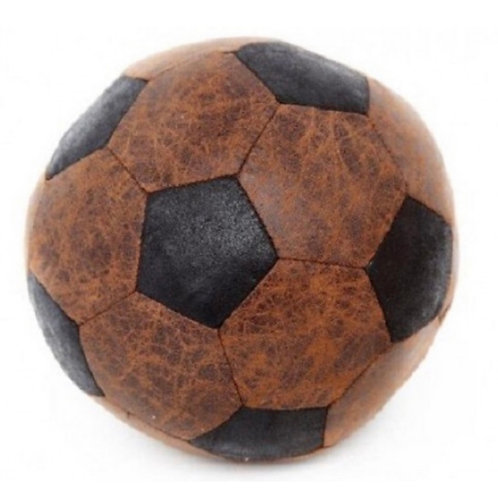Faux leather football doorstop 20cm