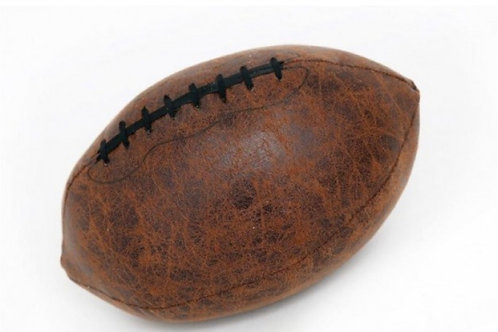 Faux leather rugby ball doorstep