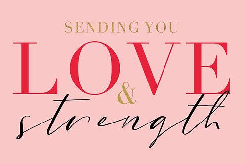 Sentiment card - Sending you love