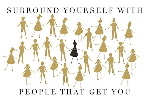 Postcard - Surround yourself with people