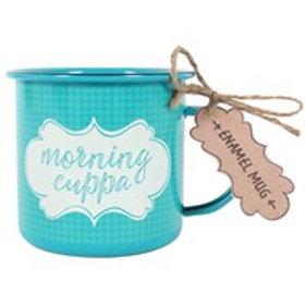 Morning Cuppa Enamel Mug