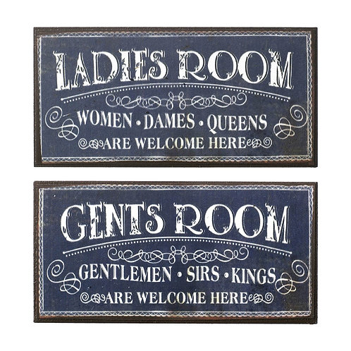 GENTS ROOM - fridge magnet/mini plaque 10x5 cm