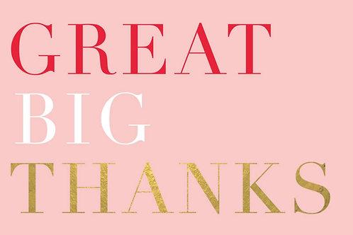 Sentiment card - Great big thanks