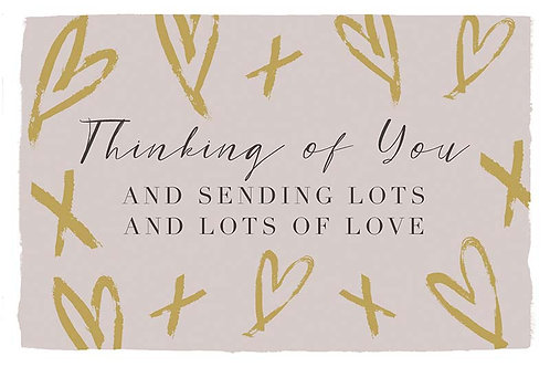 Postcard - Thinking of you and sending lots of love