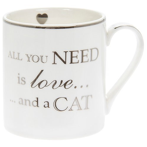All you need is love and a cat - boxed MUG