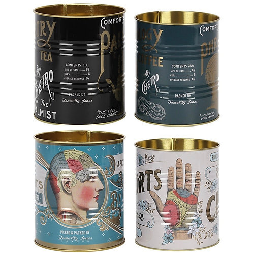 Set of 2 Phrenology & Palmistry Tins
