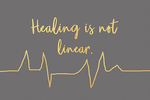 Sentiment postcard - Healing is not linear