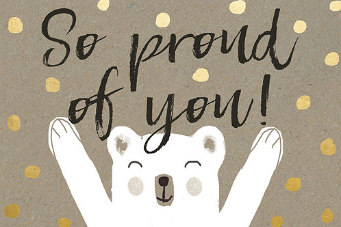 Sentiment postcard - So proud of you