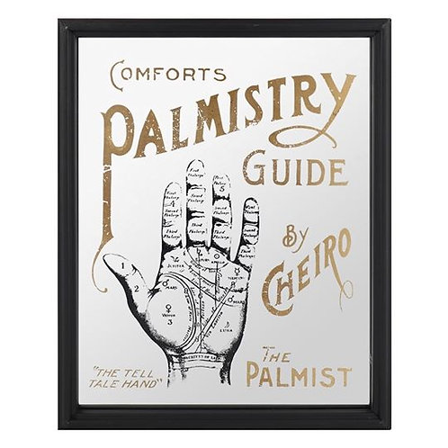 Palmistry Mirrored Wall Sign 40 x 30 cm